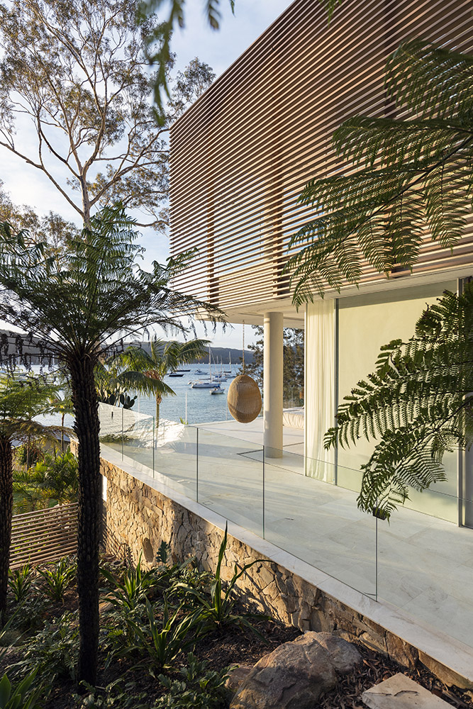 Timber Look Batten Privacy Screening