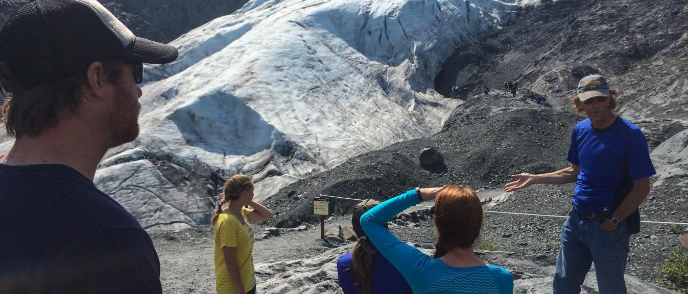 Exit Glacier in the Kenai Fjords National Park