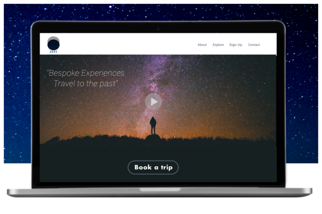 TIME-TRAVELLING TOURISM AGENCY - UX-UI-BRANDINGThe goal was to create a new brand and set up an e-commerce responsive website in which Zeit can sell travel experiences.