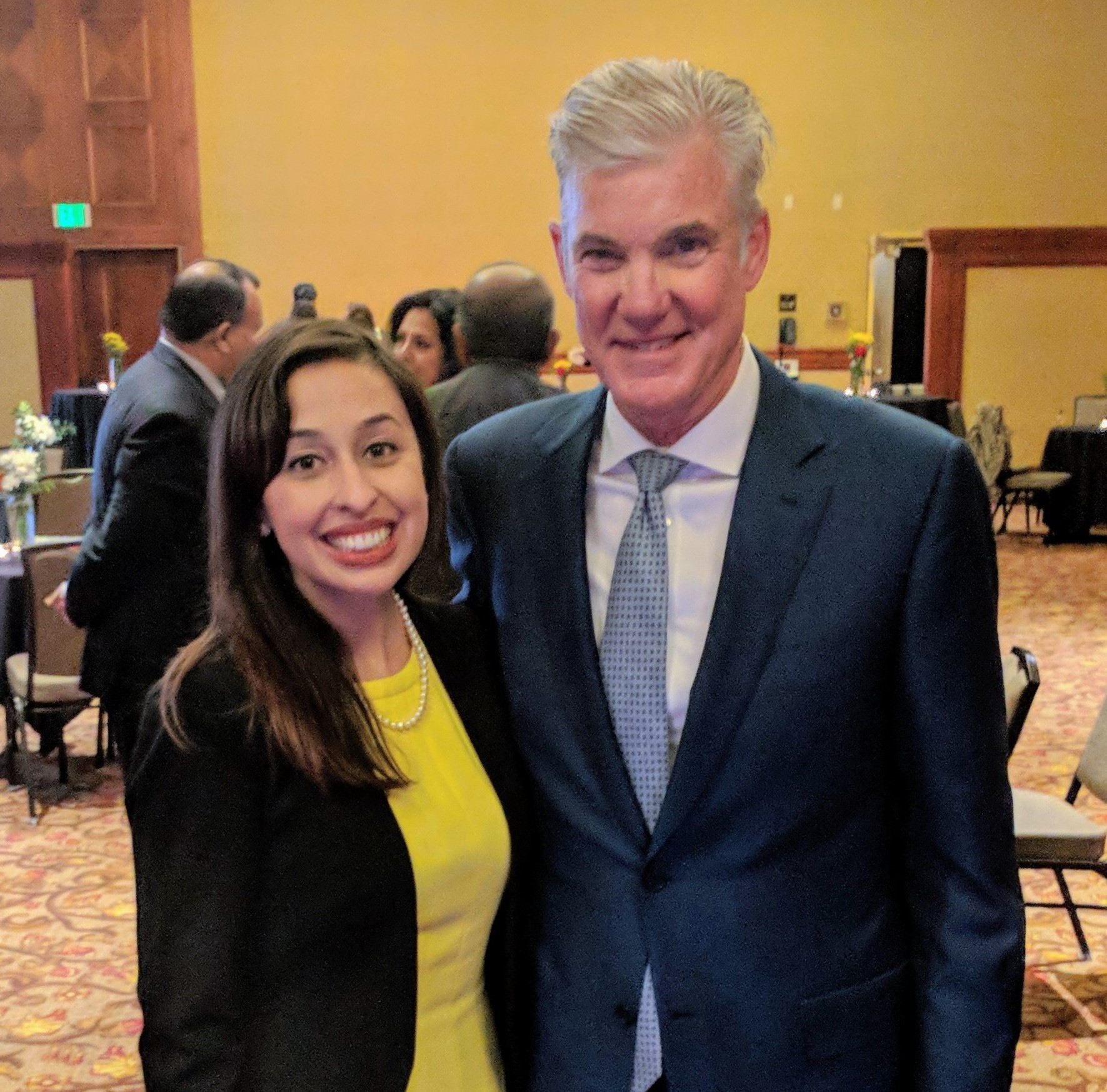 Karina Talamantes with State Superintendent of Public Instruction Tom Torlakson.