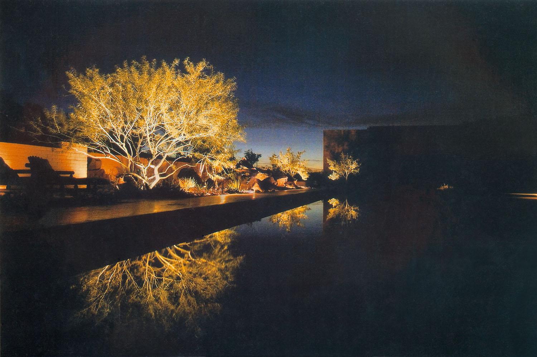Outdoor lighting, Rancho Mirage, CA.