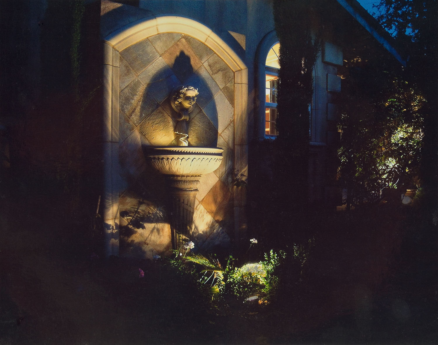 Fountain and landscape lighting, Fairfield, CA