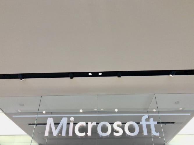 Commercial lighting, Microsoft Corte Madera store