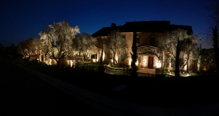 Landscape lighting, Santa Ynez, CA