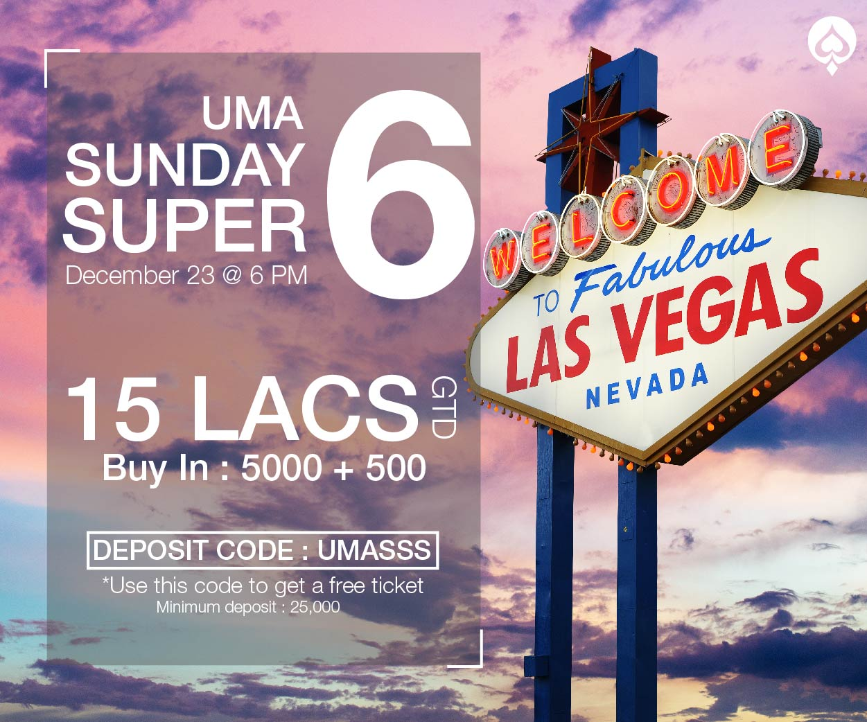 UMA Poker Sunday Super Six