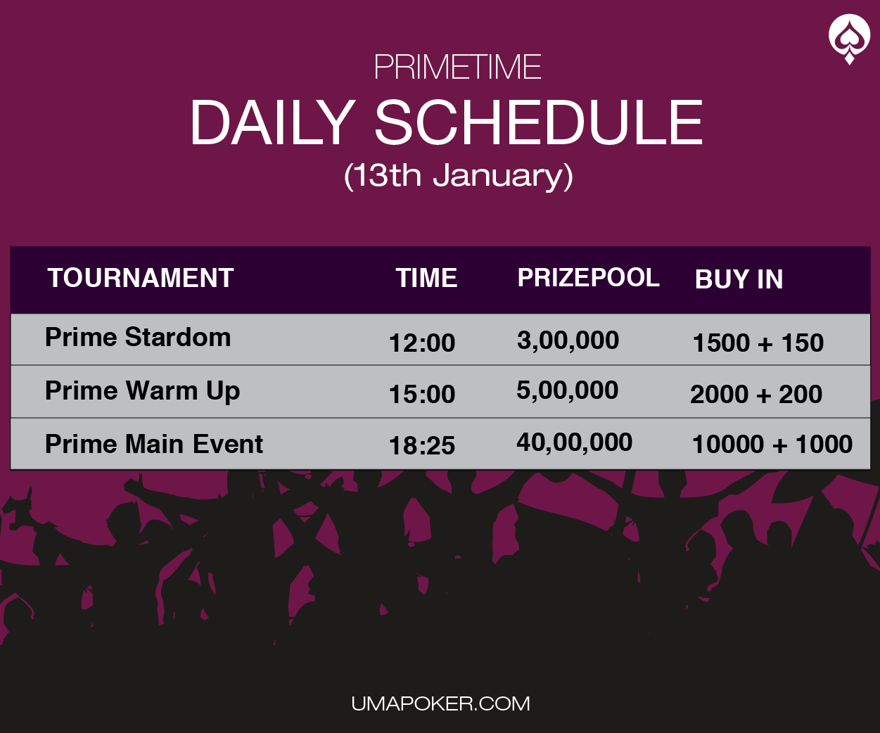 Jan 13th Daily Schedule