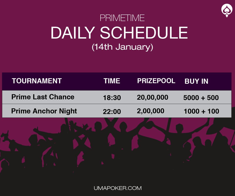 Jann 14th Daily Schedule