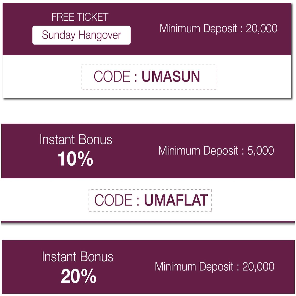 Quick, Latest Deposit Codes.