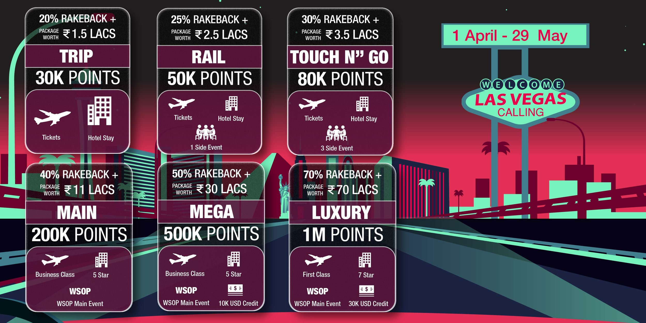 UMA Poker Las Vegas Packages