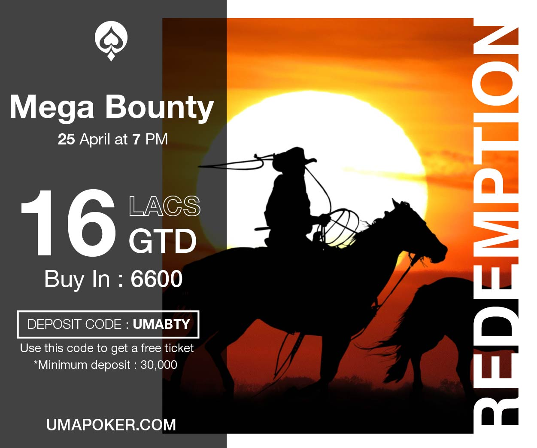 UMA Poker Redemption Mega Bounty