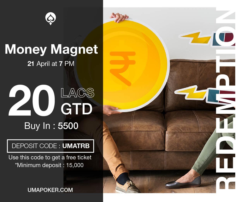 UMA Poker Redemption Money Magnet