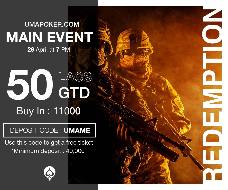 UMA Poker Redemption Series Main Event