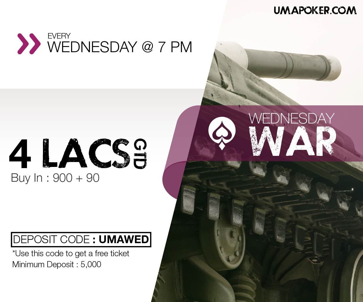 UMA Poker Wednesday war