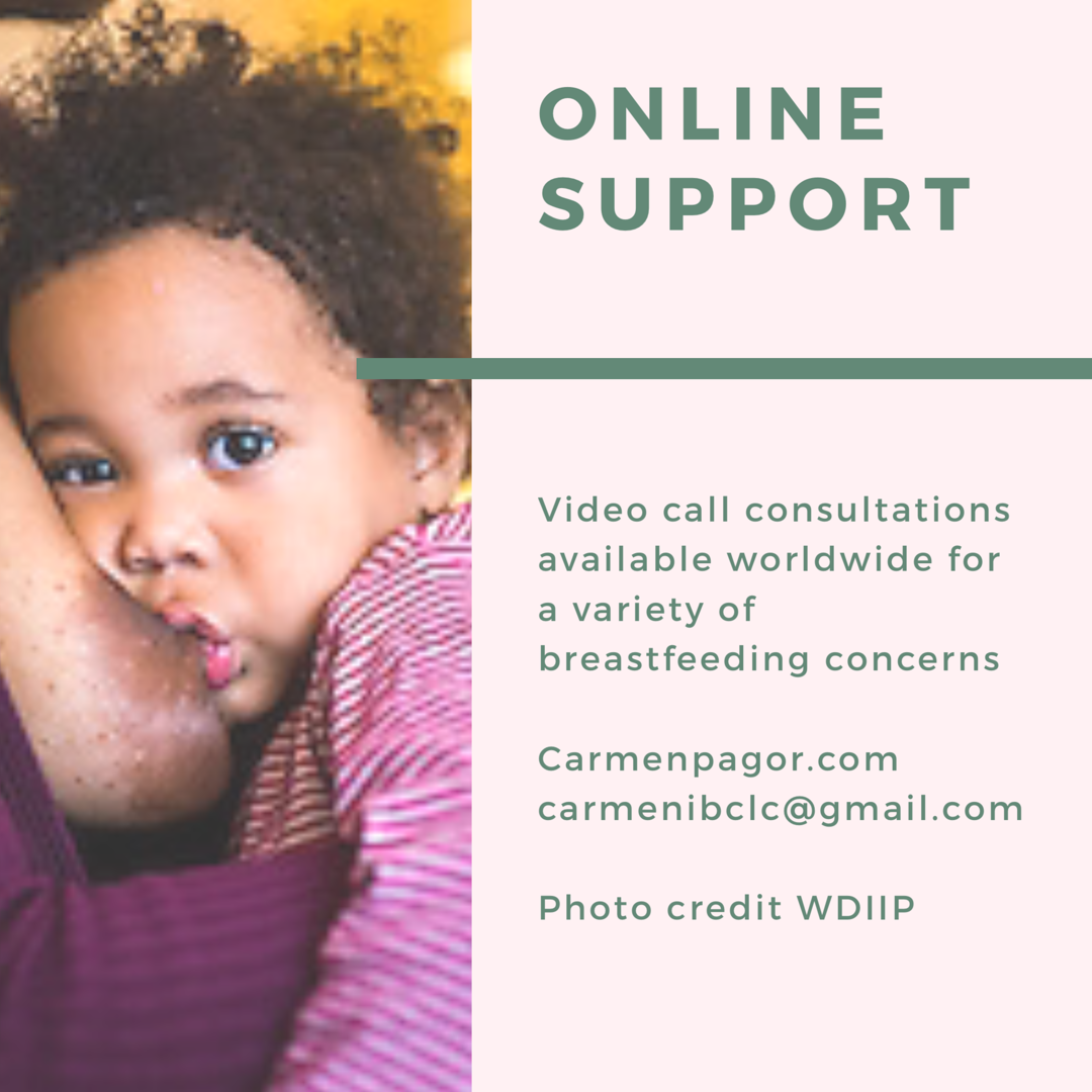Online support - We can chat via Face time/ Skype or Zoom video call for a number of breastfeeding subjects. This type of support can be really helpful if you have some niggling concerns you want to talk through with someone who knows about breastfeeding and babies. We can also make a plan for increasing breastmilk supply, restarting breastfeeding after a break or start to induce a breastmilk supply for a baby who you haven't birthed. With the delights of video calls we can make tweaks to positioning and attachment to help make breastfeeding more comfortable. If I feel your concern needs further support I will be able to recommend you access further face to face support with me if you're local toWhitstable, Kent or with another IBCLC if you live further afield. Feel free to send me an email before booking to see if this consultation could work for you.30 minute £4060 minute £75