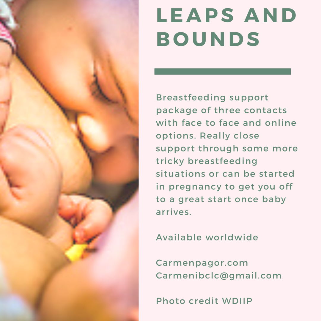 Leaps and Bounds - The Leaps and Bounds package can be used in a variety of ways to help you come along in leaps and bounds!It is essentially three in-depth (1-2 hour each) consultations. It can be used at any stage of your breastfeeding journey. Some women book this package in their pregnancy and choose the first consultation to be an antenatal contact to talk through their thoughts and feelings of breastfeeding, pick up some tips and tricks for the early days with a newborn or to debrief experiences of breastfeeding a previous child.Or it can be used as three postnatal contacts. These packages can include 2 face to face consultations if you live local to Whitstable in Kent and one video call follow up.Or three video calls, available worldwide.This package is great to support you to grow in confidence in your body, breastfeeding and your baby and is especially helpful for some more challenging breastfeeding situations. These may include weaning from nipple shields, breast refusal, faltering growth, infant allergies, low milk supply, inducing lactation or relactating after a break in breastfeeding. *List not exhaustiveThis package will also include a copy of Emma Pickett's (IBCLC) book You've Got it in You, A Positive guide to breastfeedingandA gorgeous bespoke bracelet by Carly Dove Boutique with a hand-inscribed encouraging message. Can be used for remembering which breast you used at the last feed- helpful in the early days!If you would like more information or would like to book this package get in touch!£275