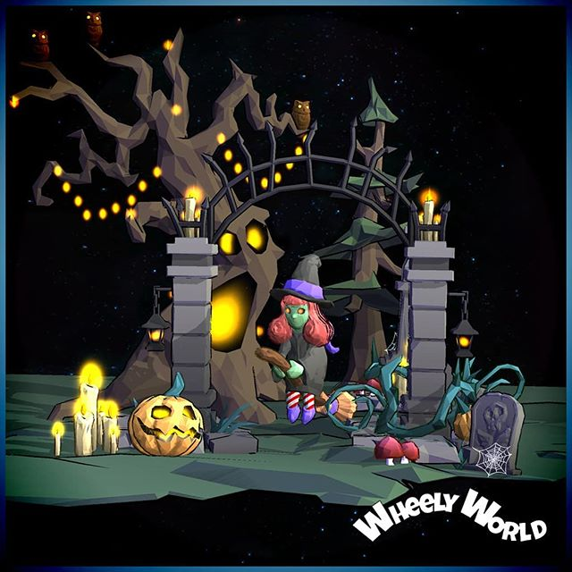 Spooky World has arrived in Wheely World!  Available now on iTunes and Google Play 🌞🍬😄👻💀🎃 . . . . . #wheelyworld #cloudlandstudios #endlessroller #indie #indiegame #indiestudio #southaustralia #mobilegames #android #ios #indiedev #lowpoly #artofinstagram #gamersofinstagram #artistsoninstagram #gamer #unity #unitygames #diorama #monstermode #halloween #spooky #ghost #pumpkin #witch