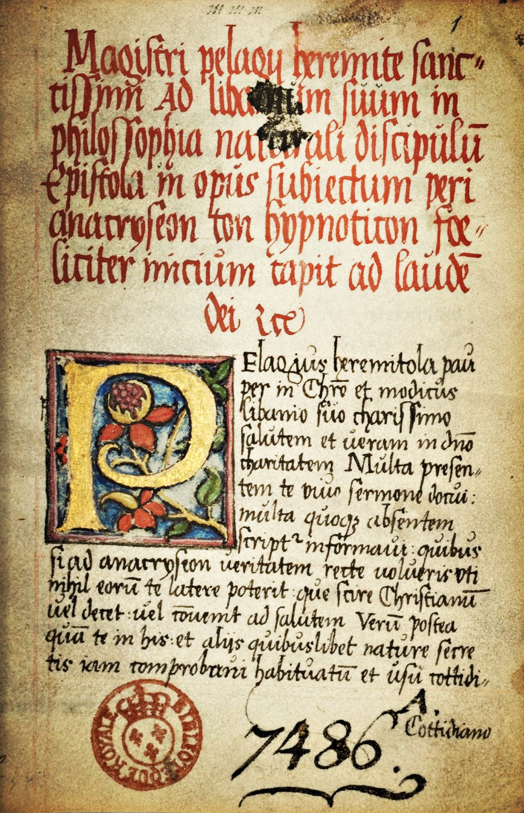 title page BnF Latin 7486A