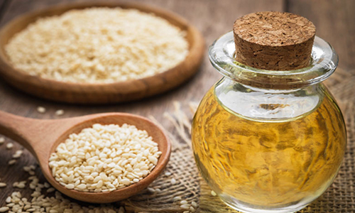 SESAME SEED - BENEFITS:  Excellent for dry scalp treatment.  It promotes hair growth and a healthy scalp. It also helps prevent split ends and softens hair.