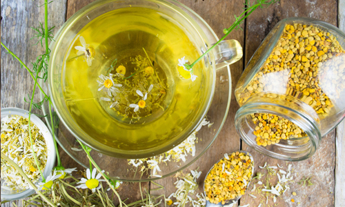 CHAMOMILE - BENEFITS:  Hair growth. Strengthens the hair and protects the hair from the elements.