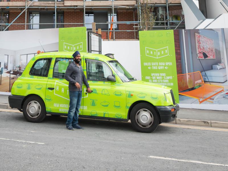 hatbox taxi wrap