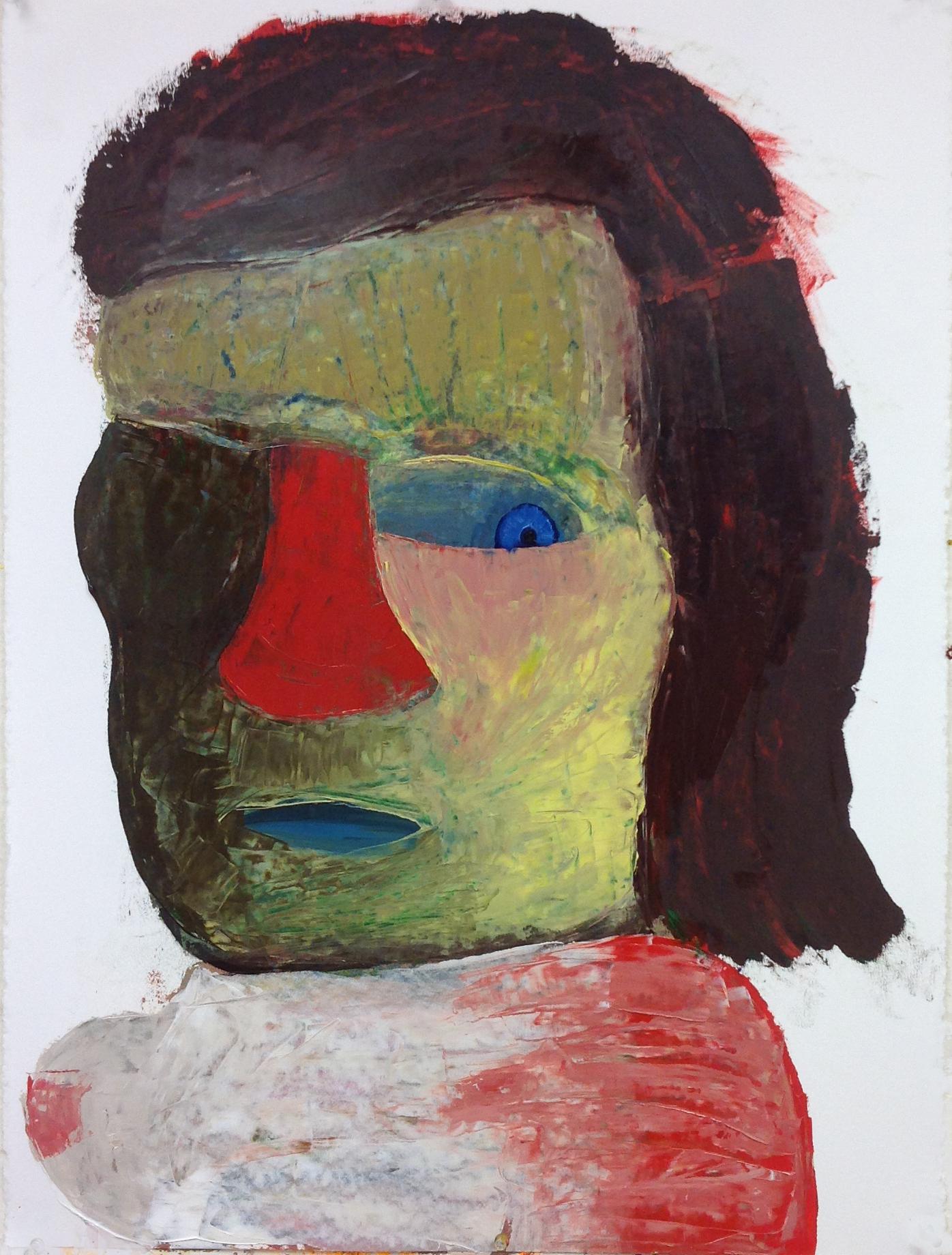 """Girl, 24""""x 30"""", oil on paper"""