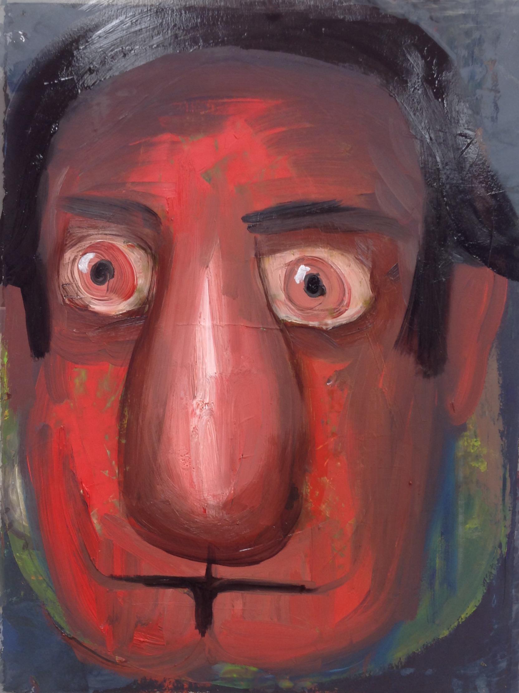 """Husbandman, 11""""x 14"""", oil on paper"""
