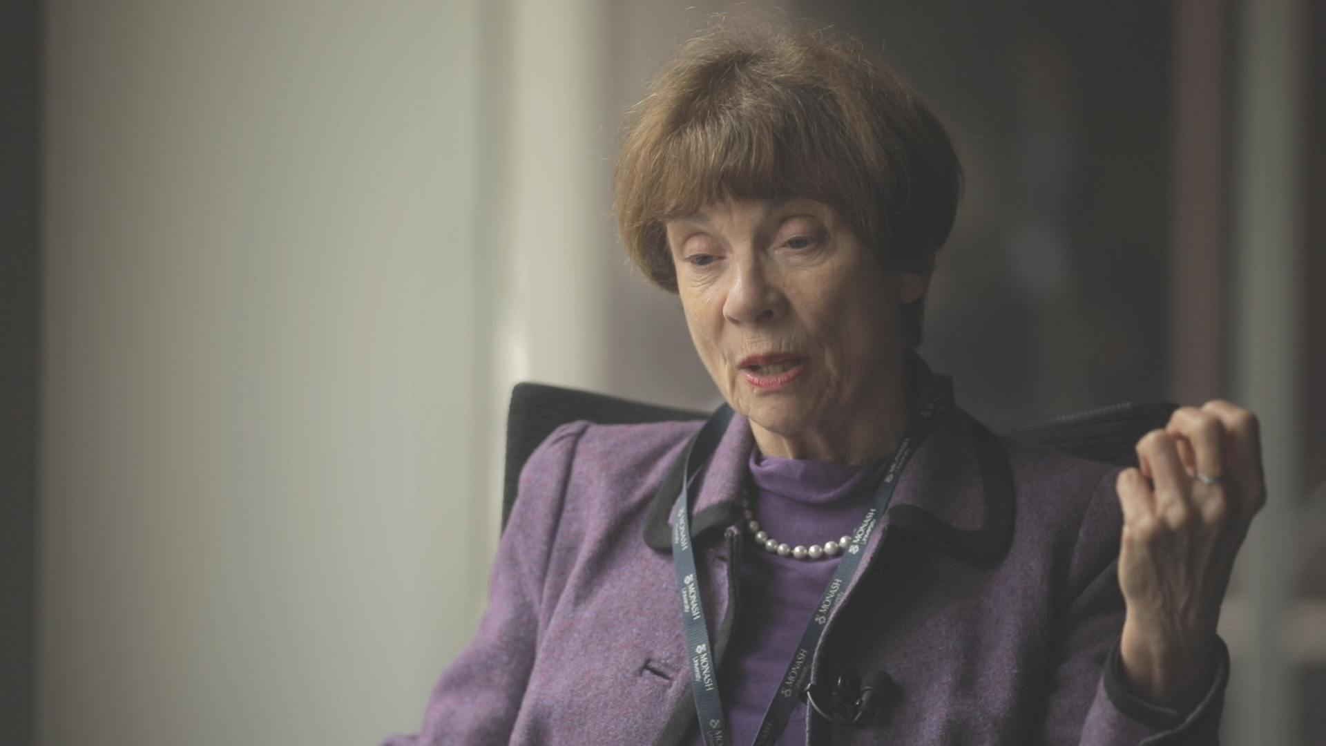 Neave is a short documentary about the Hon. Marcia Ann Neave AO who was: a Court of Appeal judge; an academic; and a law reformist who led two Royal Commissions for women's rights in Australia.  Jeannie Paterson, Associate Professor and Associate Dean of Melbourne Law School, also features.