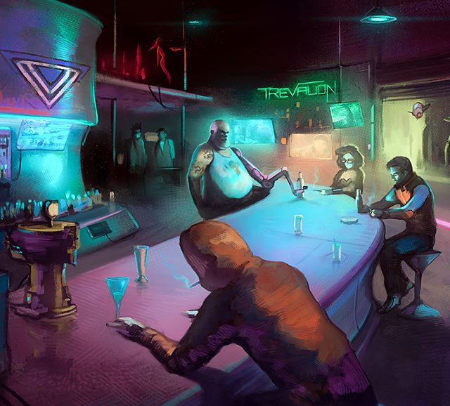 """The Chat"" #cyberpunk #neuromancer #fantasyart"