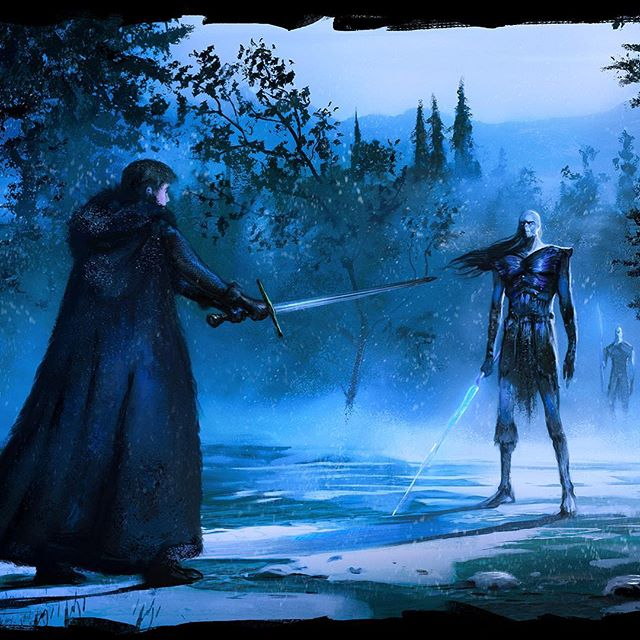 """Baptism of Ice"" Re-reading A Song of Ice and Fire all over again. Gonna paint a few scenes. #asongoficeandfire #gameofthrones"