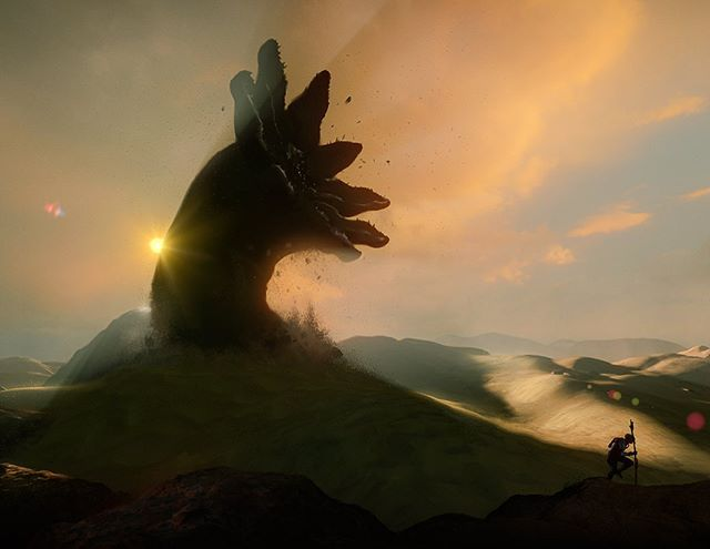 """Sandworm"" #dune #flowscape #fantasyart #scifi"