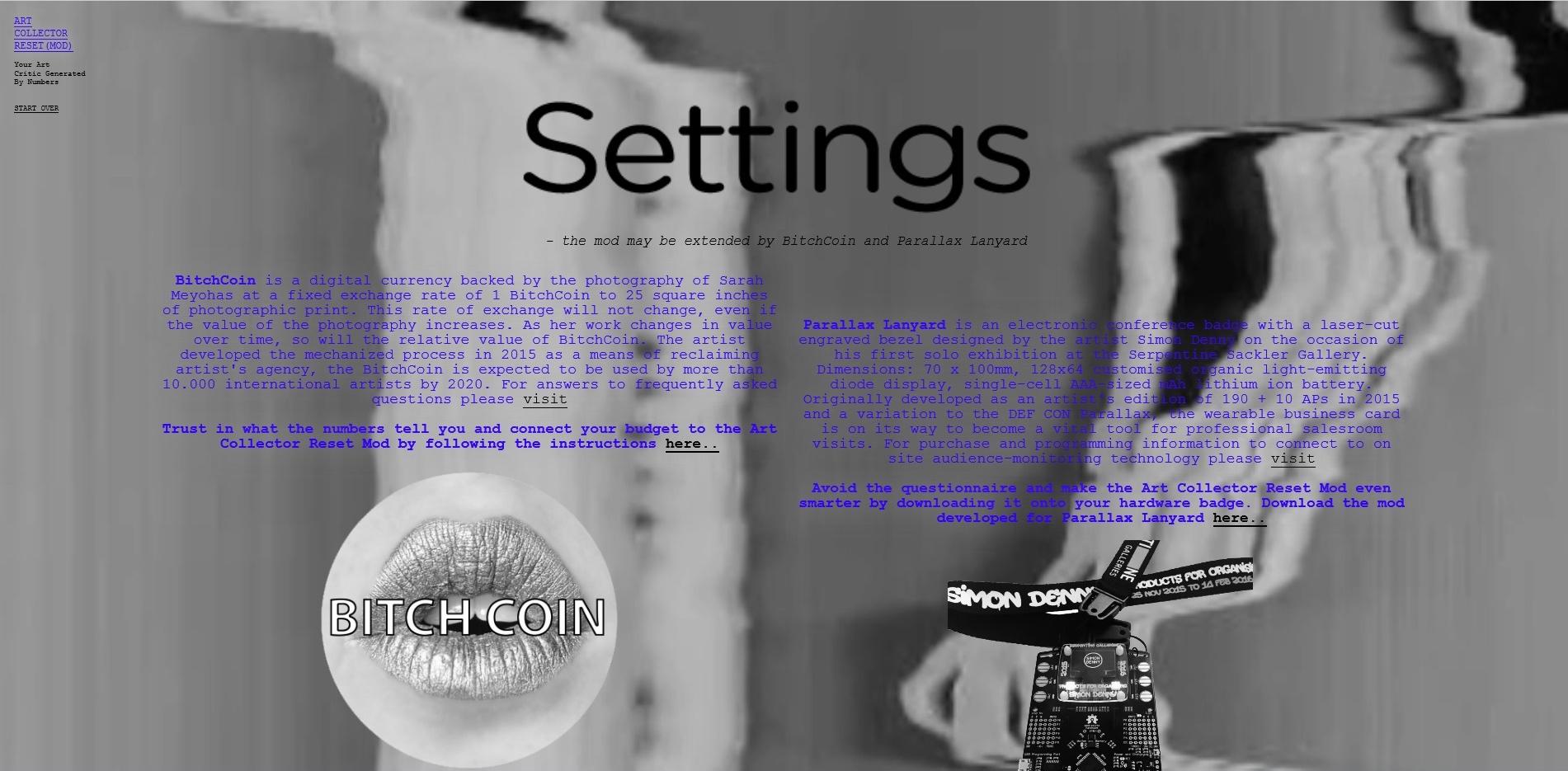 - Print screen testing programme Art Collector Reset Mod 2016