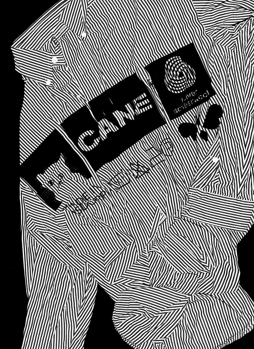 Cane Shirt - Avoidstreet, Cane Shirt, 2019levensgrote scan, inkjet print op Hahnemühle Photo Rag papier, ed. 3 + 1 AP, 84,1 x 59,4cm€ 700,- incl. btw, certificaat van authenticiteit