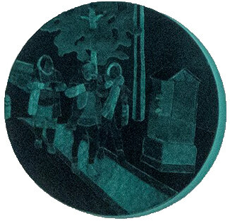 Iranian Velvet - Joyce Overheul, Iranian Velvet, 2019velours op canvas, handgemaakt tijdens Aria Residency Teheran, diameter ca. 40 x 4cm, uniek€ 900,- incl. btw, certificaat van authenticiteit