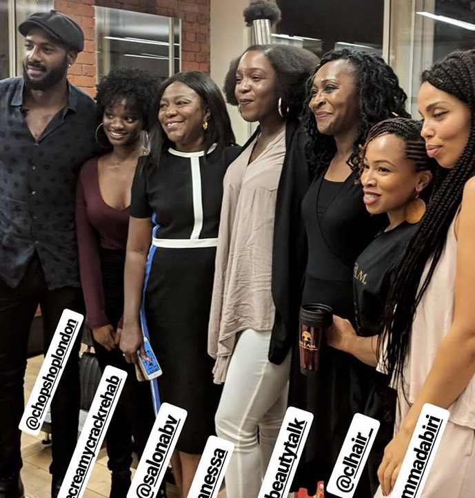 @salonabv on discussion panel - Brownbeautytalk Natural Hair Masterclass with ASIAM Naturally