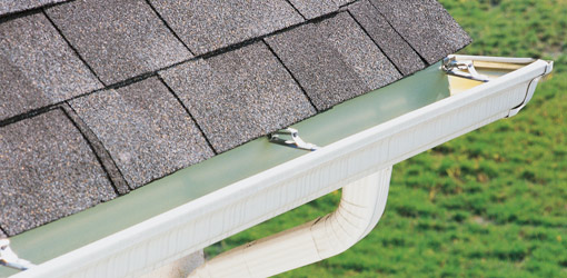"Seamless Gutters - Our gutter products come as 5"" or 6"" seamless aluminum, offering lightweight, long lasting and effective gutters that can withstand the worse downpours and debris, especially when paired with our Leafproof gutter protection systems! (See below.)"