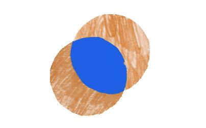 Overlapping circles illustration