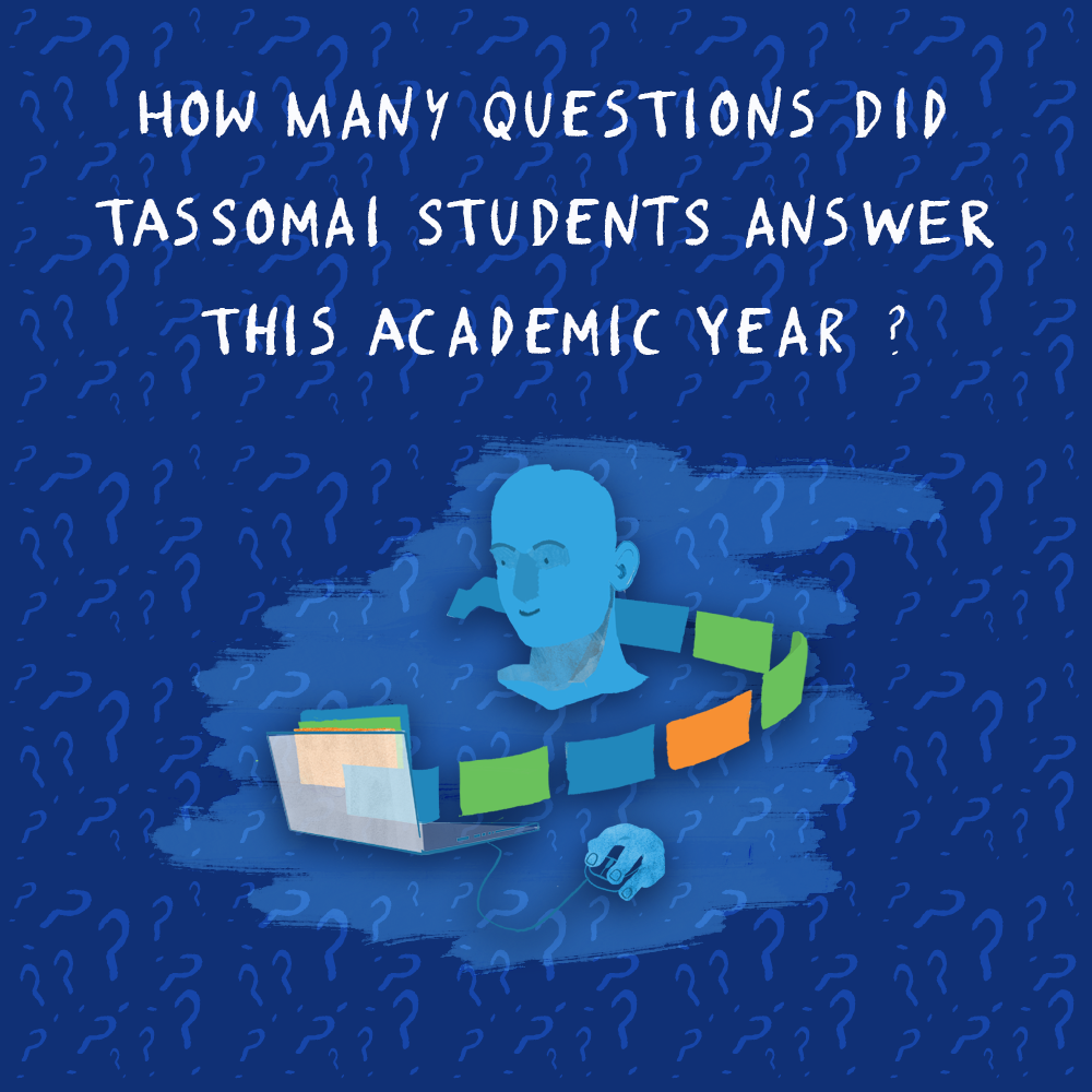 How many questions have students answered on Tassomai?