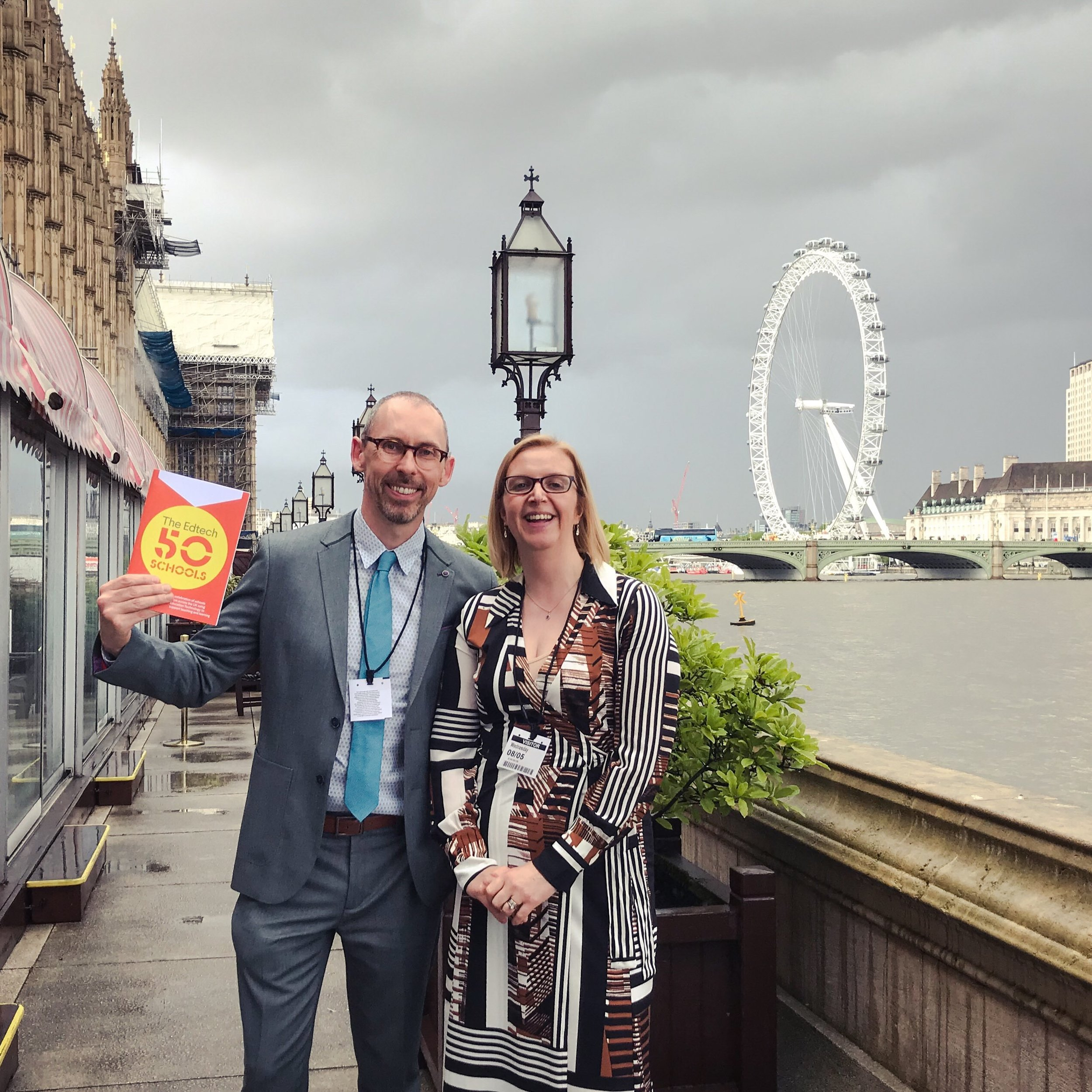Spencer, our Head of Marketing and Claire Crichton-Allen from Matthew Moss High School at the House of Lords for the EdTech 50 launch event.