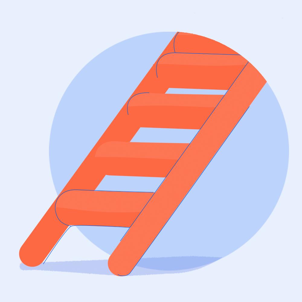 Climbing the ladder image