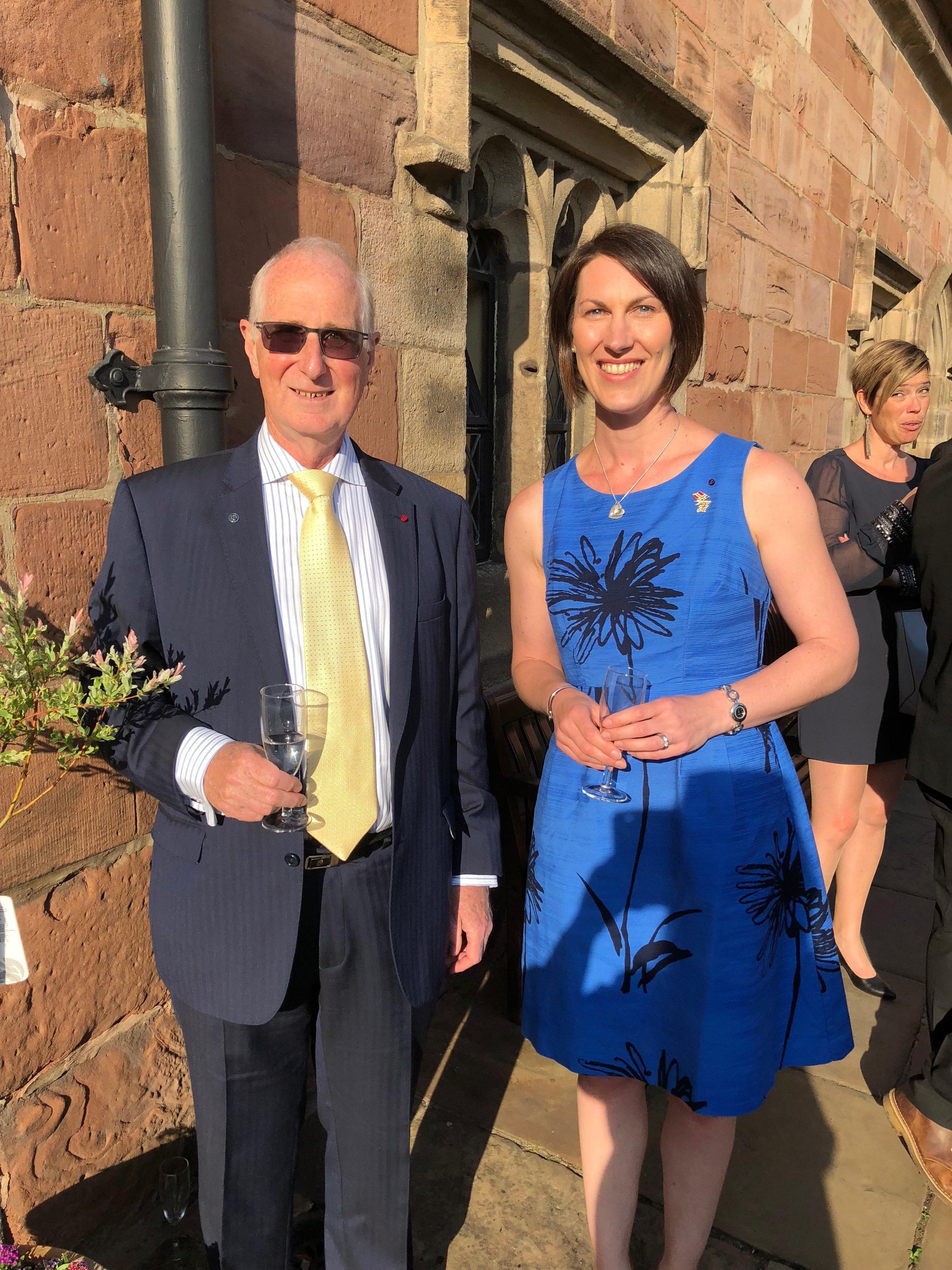Alexandra Stewart Honorary Consul of Norway and Chris Rostron Honorary Consul of Finland and the President of the MCA
