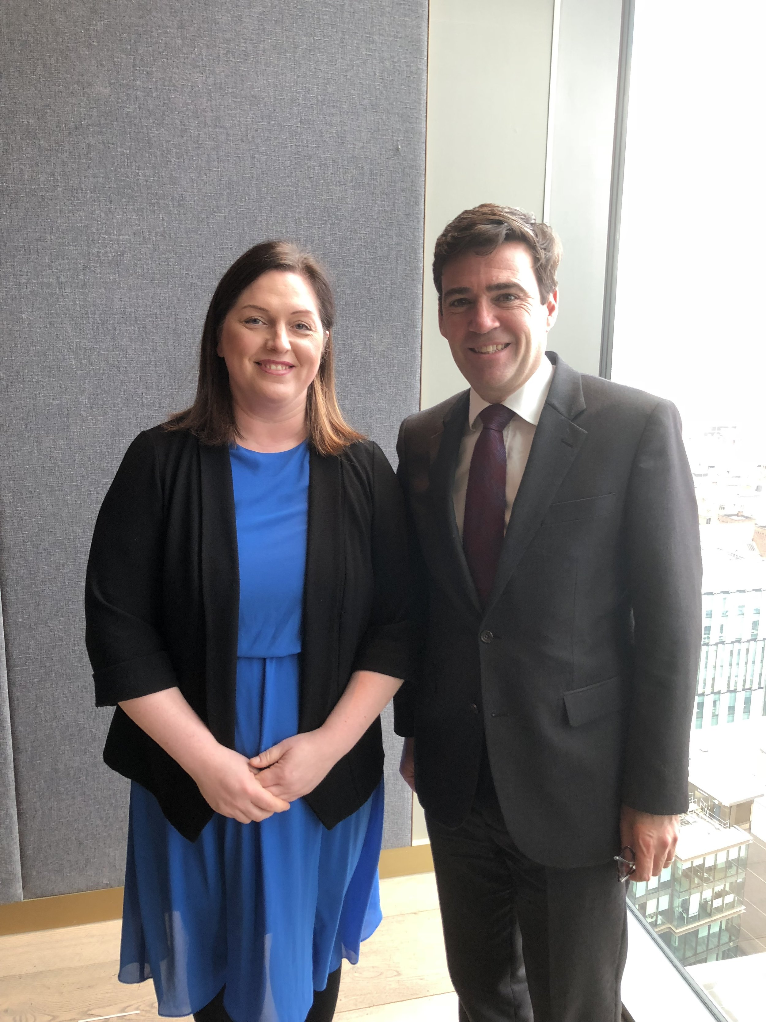 Agusta Thorarinsdottir Honorary Consul for Iceland and Vice President of the MCA represented the association in a meeting organised by Andy Burnham the Mayor of Manchester.