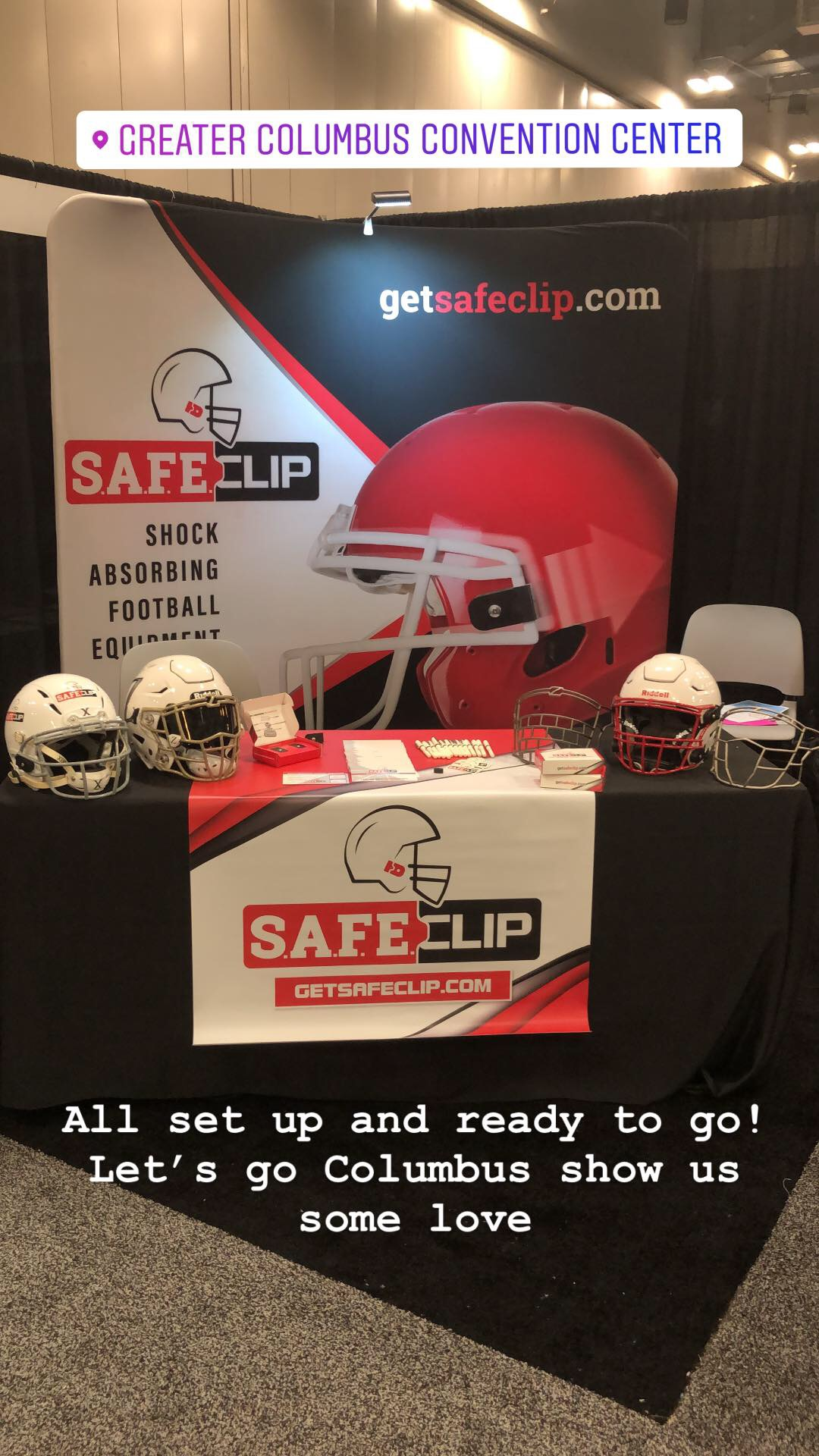 SAFEClip at the Sports Inc Show in Columbus