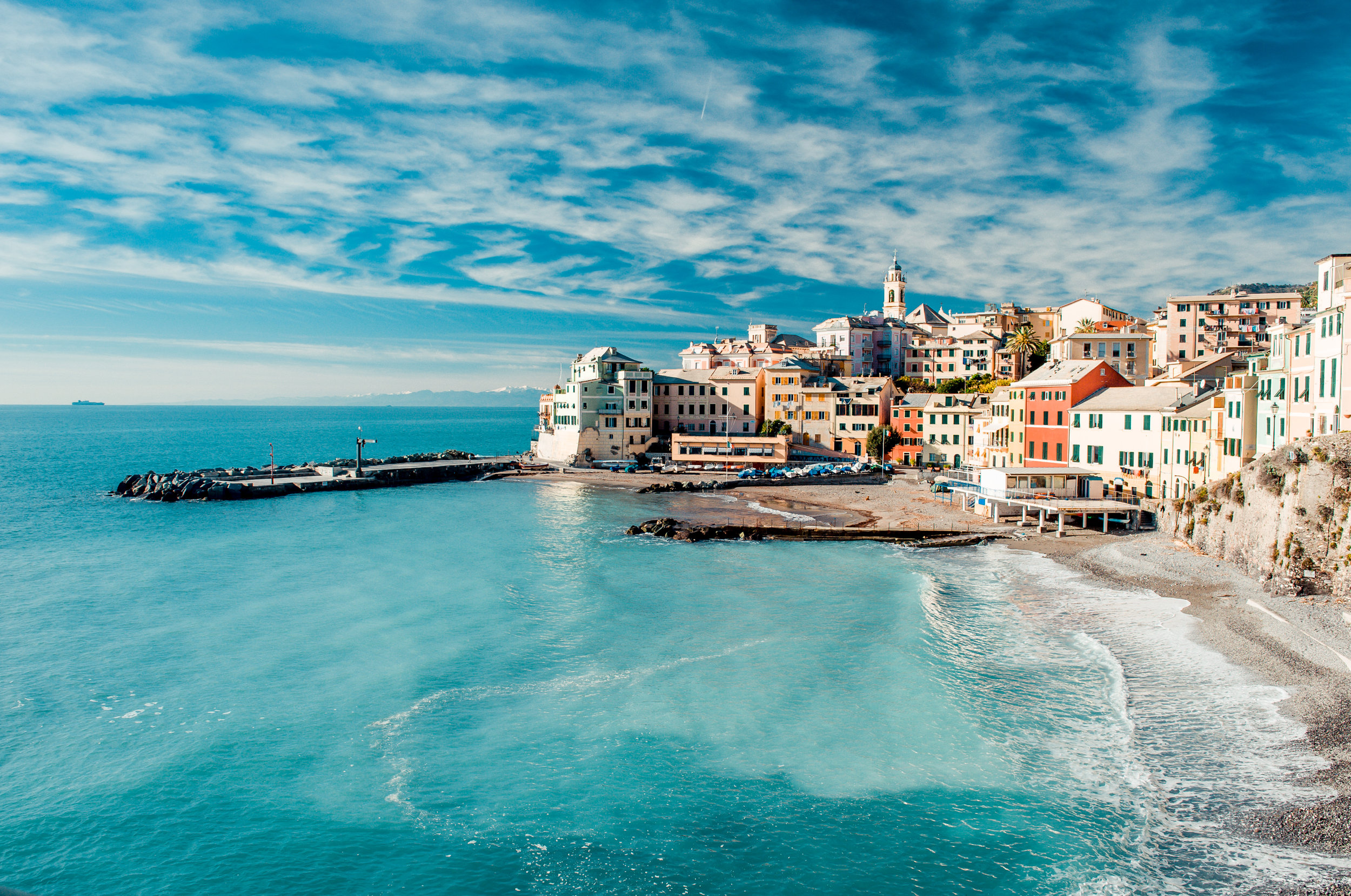 View of Bogliasco. Bogliasco is a ancient fishing village in Ita