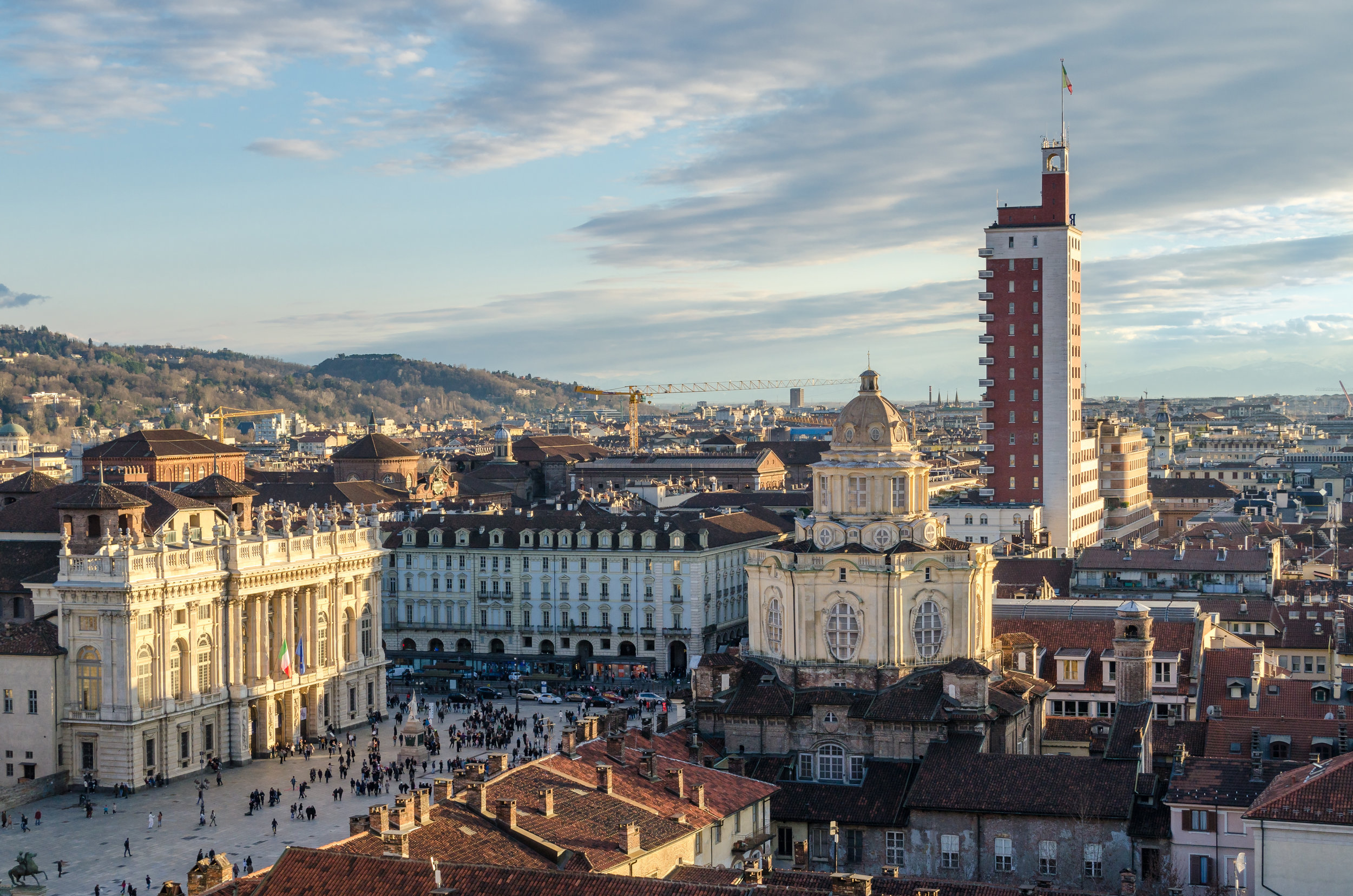 Turin (Torino), panorama from the bell tower (1)