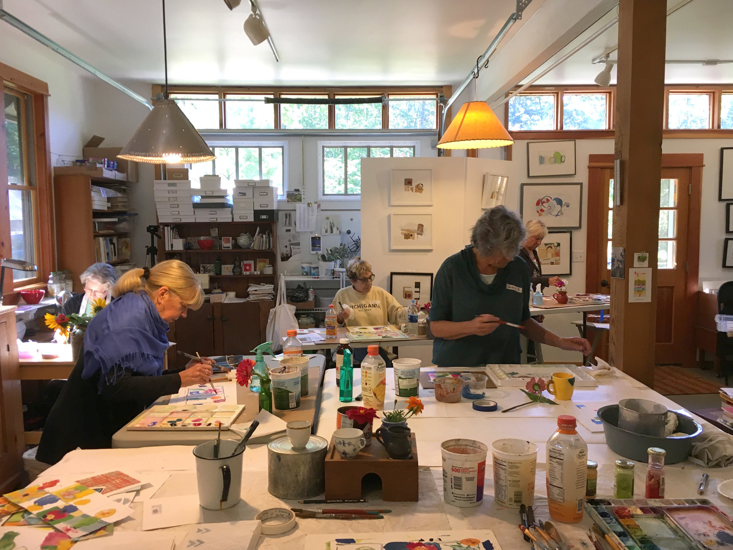 """Messing Around with Paint"" and ""Messing Around with Paint, Paper and Paste"" art classes are available in Maple City, MI from local artist Carol C Spaulding."