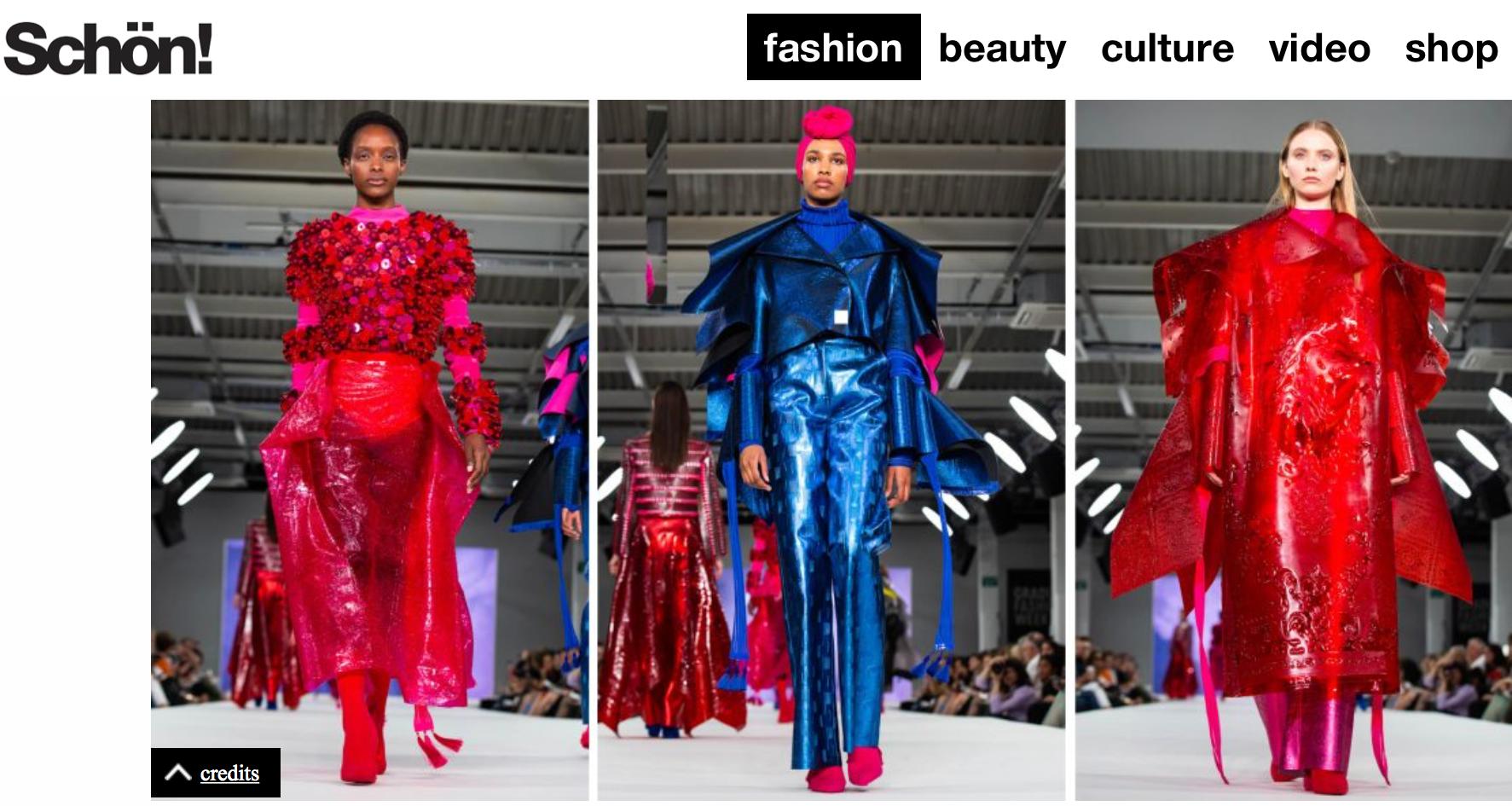 Schön! - Flourishing-Graduate Fashion Week11/06/2018