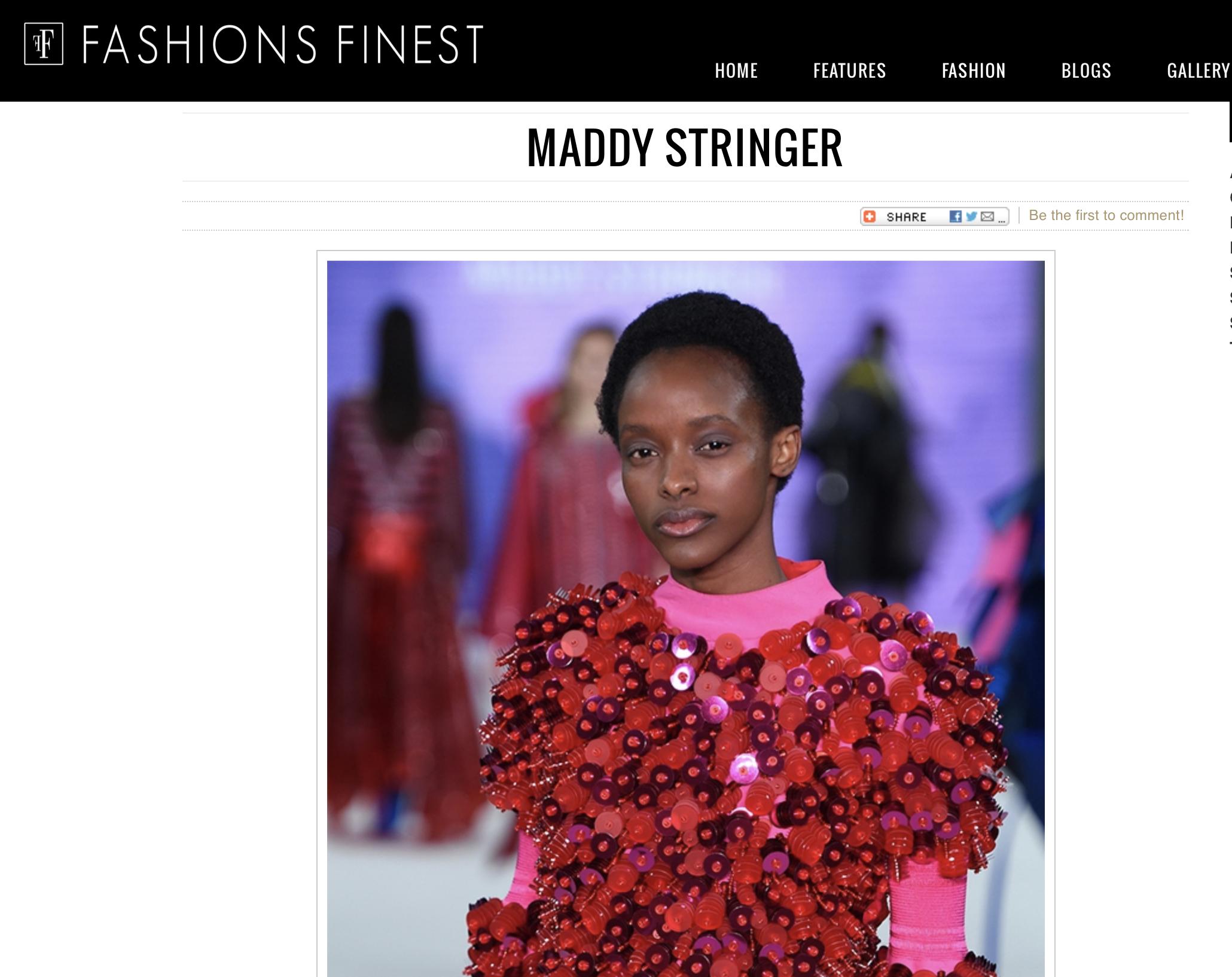 Fashion's Finest - Designer Profile: Maddy Stringer19/08/2018