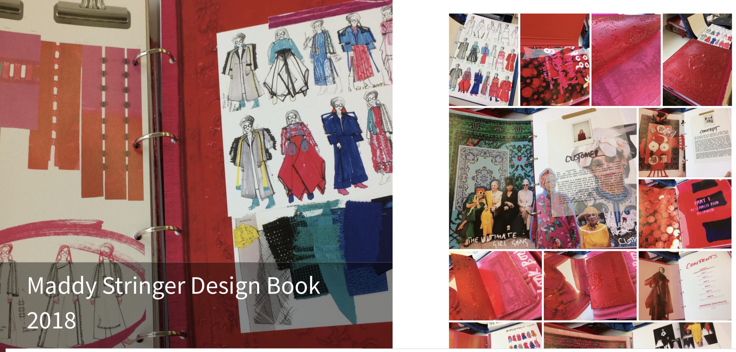ECA Fashion Design Books - Maddy Stringer Design Book 201831/08/2018