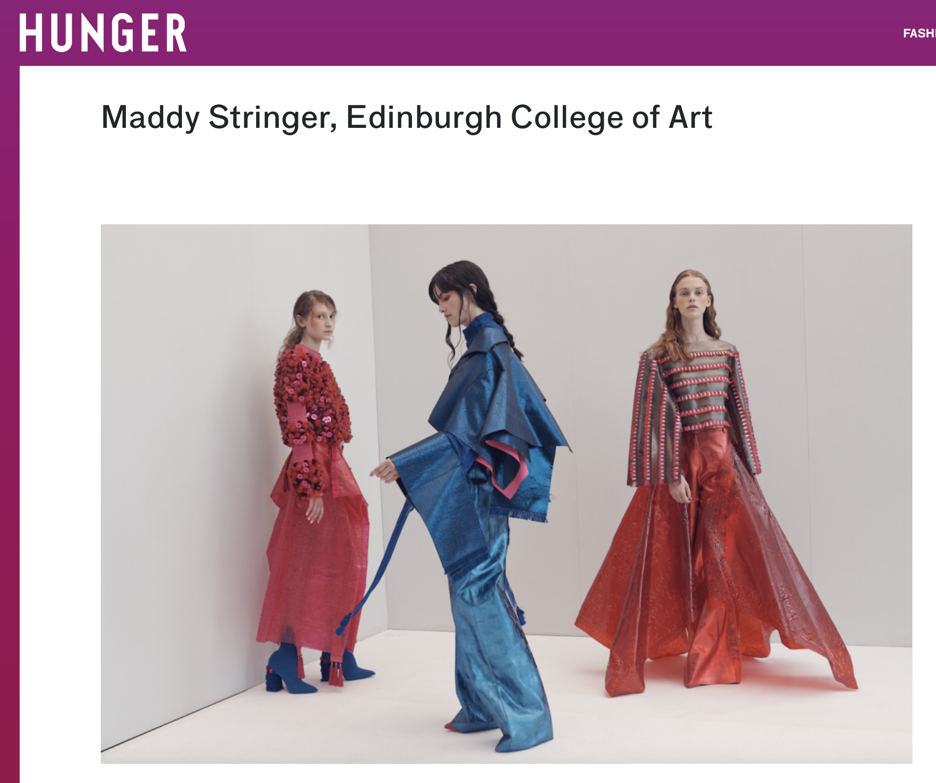 Hunger - THE GRADUATES: 15 UP-AND-COMING YOUNG DESIGNERS TO KNOW23/07/2018