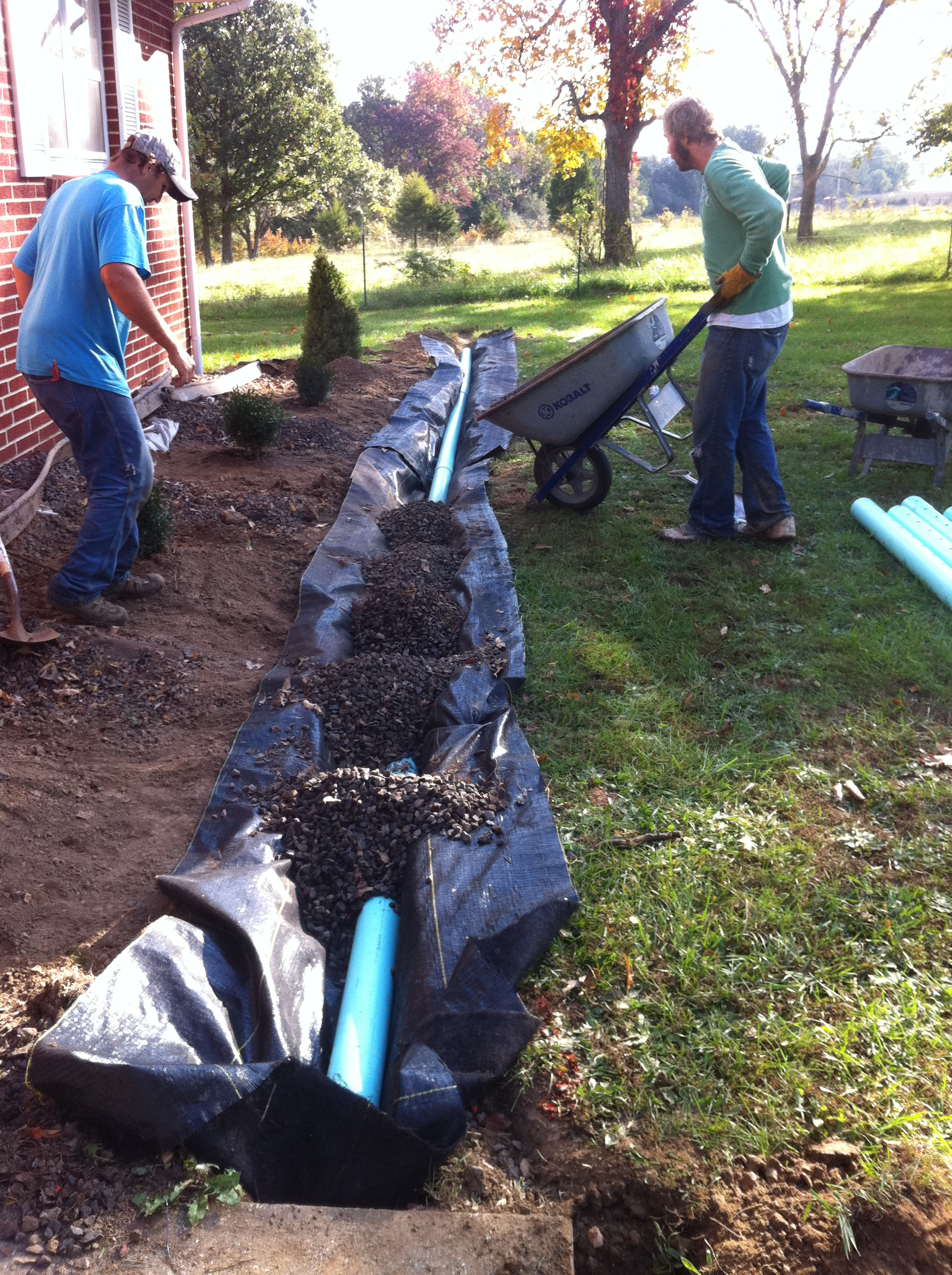 The Process french drain.JPG